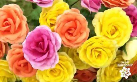 ساخت گل های کاغذی Paper Flowers